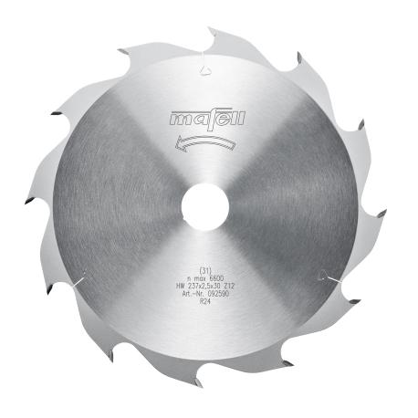 Pílový kotúč-HM, 237 x 1,8/2,5 x 30 mm, Z 12, WZ