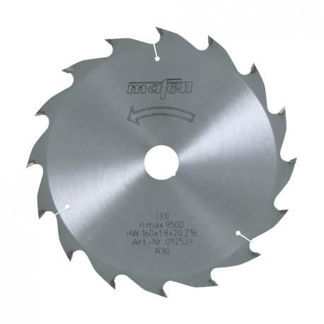 Pílový kotúč-HM, 160 x 1,2/1,8 x 20 mm, Z 16, WZ