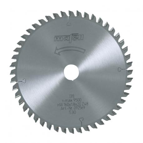 Pílový kotúč-HM, 160 x 1,2/1,8 x 20 mm, Z 48, FZ/TR