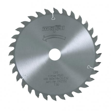 Pílový kotúč-HM, 160 x 1,2/1,8 x 20 mm, Z 32, WZ