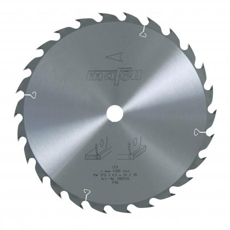 Pílový kotúč-HM, 370 x 2,2/4,2 x 30 mm, Z 26, WZ