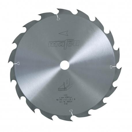 Pílový kotúč-HM, 370 x 2,5/4,5 x 30 mm, Z 18, WZ