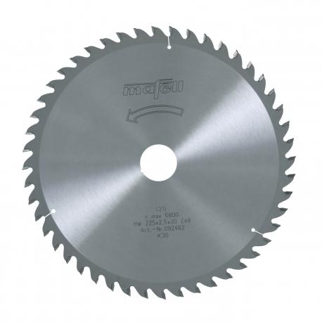 Pílový kotúč-HM, 225 x 1,8/2,5 x 30 mm, Z 48, WZ