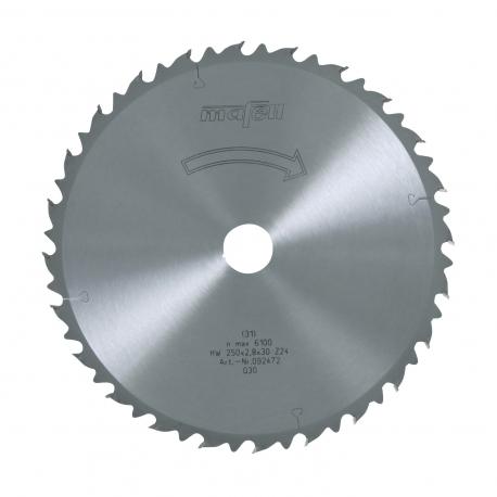 Pílový kotúč-HM, 250 x 1,8/2,8 x 30 mm, Z 24, WZ