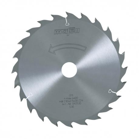 Pílový kotúč-HM, 230 x 1,8/2,5 x 30 mm, Z 24, WZ