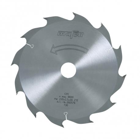 Pílový kotúč-HM, 230 x 1,8/2,5 x 30 mm, Z 12, WZ