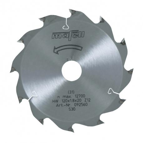 Pílový kotúč-HM, 120 x 1,2/1,8 x 20 mm, Z 12, WZ