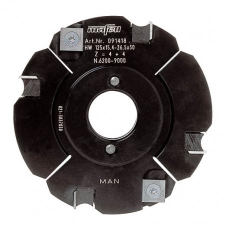 Fréza drážkovacia nastaviteĺná, tvrdoková, 125 x 15,4 - 26,5 x 30 mm