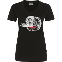 Dámske čierne tričko - letokruh