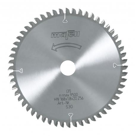 Pílový kotúč-HM, 168 x 1,2/1,8 x 20 mm, Z 56, WZ