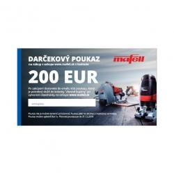 Poukaz na nákup v eshope MAFELL v hodnote 200 €